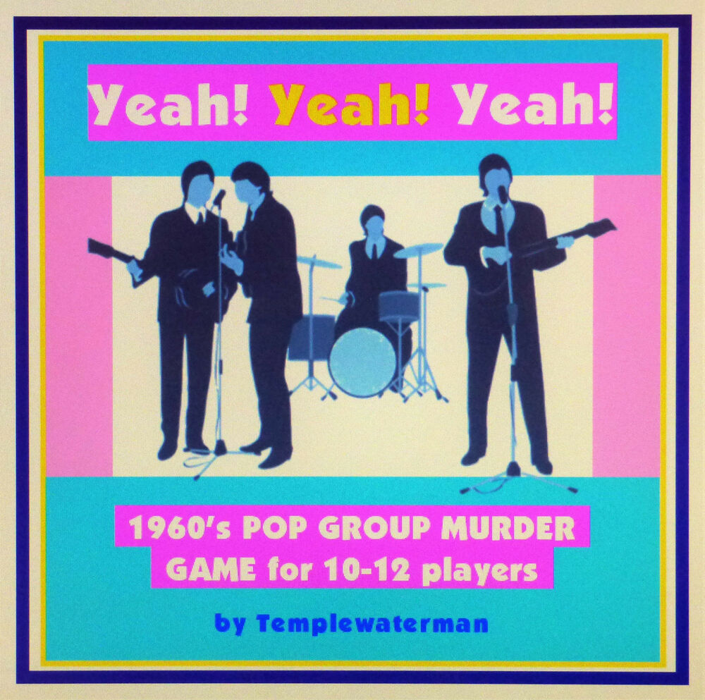 HOST A 1960's MURDER MYSTERY DINNER PARTY GAME