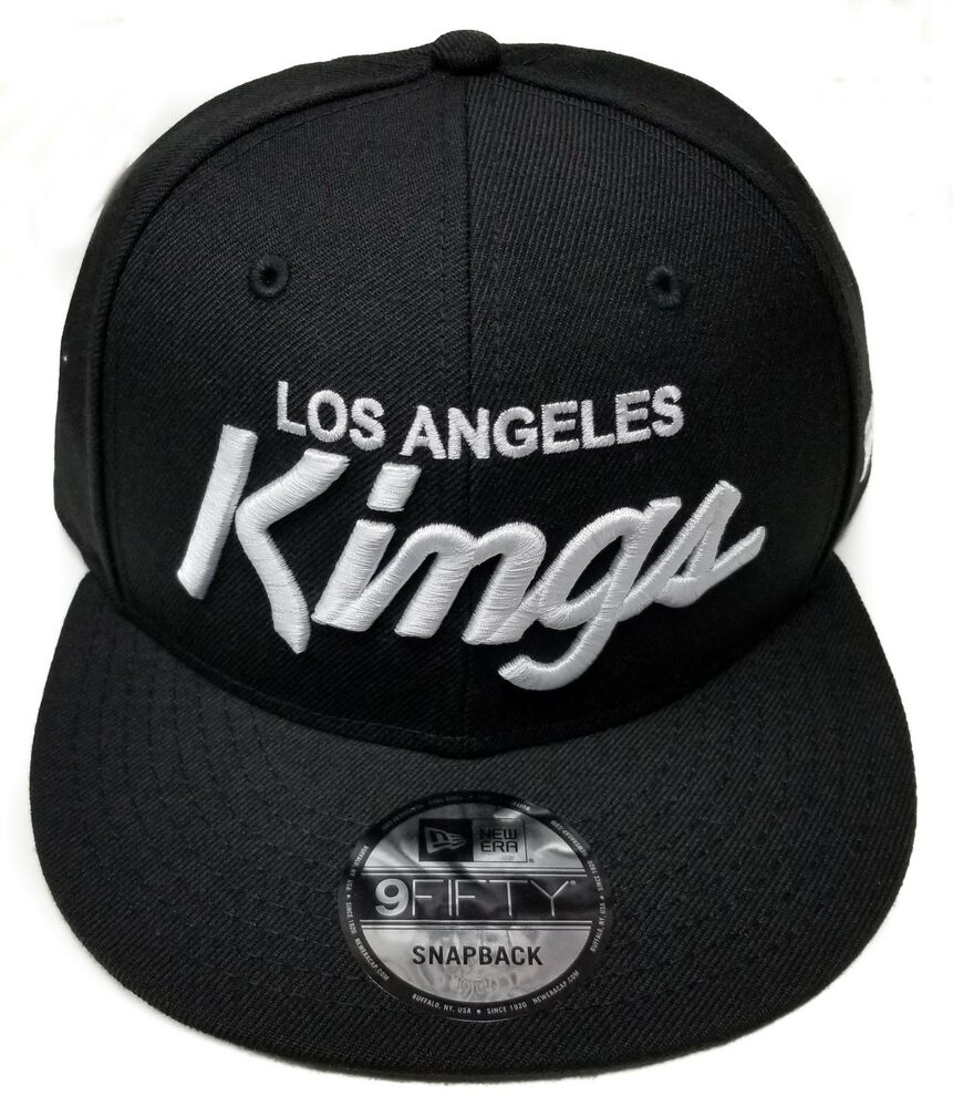 08199c41a95e7e ... authentic los angeles kings new era 9fifty rear vintage script eazy e  nwa snapback hat nhl