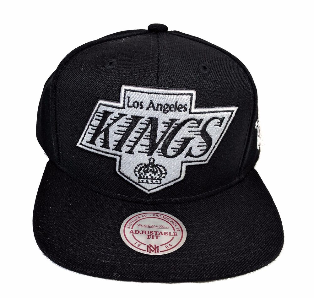 Details about Los Angeles Kings Mitchell   Ness XL Vintage Black White  Snapback Hat Cap NHL f2c8a7ca3eb
