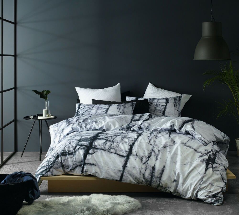 The Big Sleep Calcutta Marble Quilt Doona Cover Set
