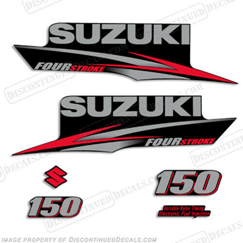 Suzuki 150hp fourstroke 2010 2013 outboard engine decal for Yamaha replacement decals