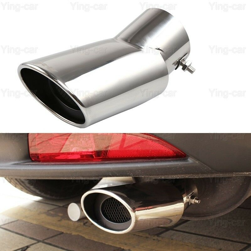 Tip Silvers: 2Pcs Silver Exhaust Muffler Tail Pipe Tip Tailpipe For