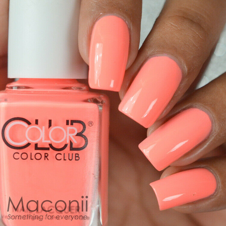 Bright Pink Nail Polish Colors: Bright Peach Pink Coral Creme