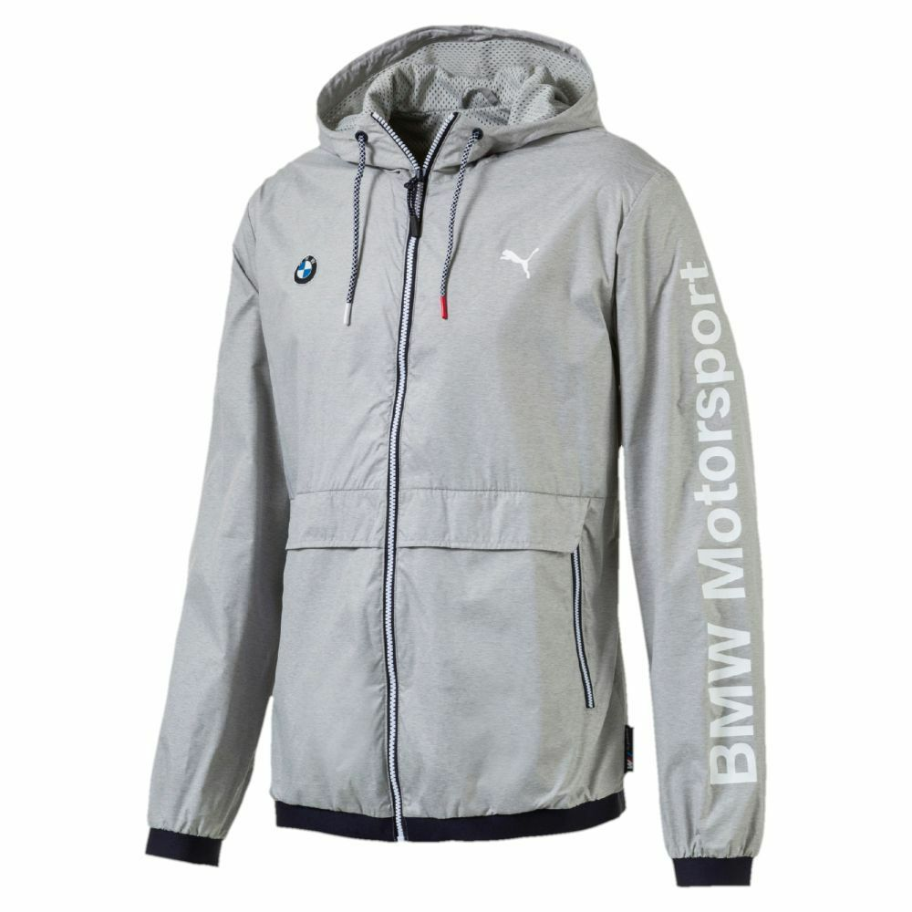311bf29aae04 Details about Puma Bmw Motorsport Men s Classic Zip Up Sports Track Jacket  Light Gray 57278003