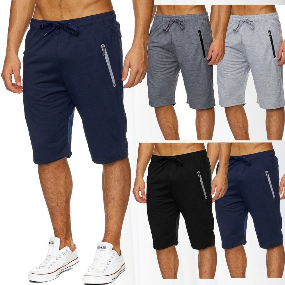 herren sweat shorts sommershorts jogging sport kurze hose jogginghose baumwolle ebay. Black Bedroom Furniture Sets. Home Design Ideas