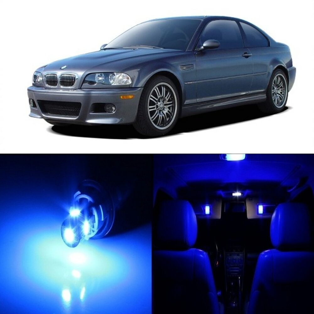 16 x Blue LED Interior Light Package For 1999 - 2005 BMW 3 ...