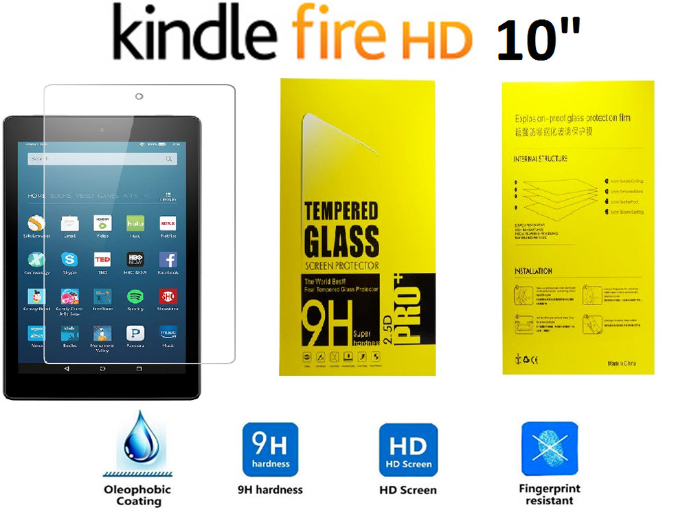 100% Genuine Tempered Glass Screen Protector For AMAZON