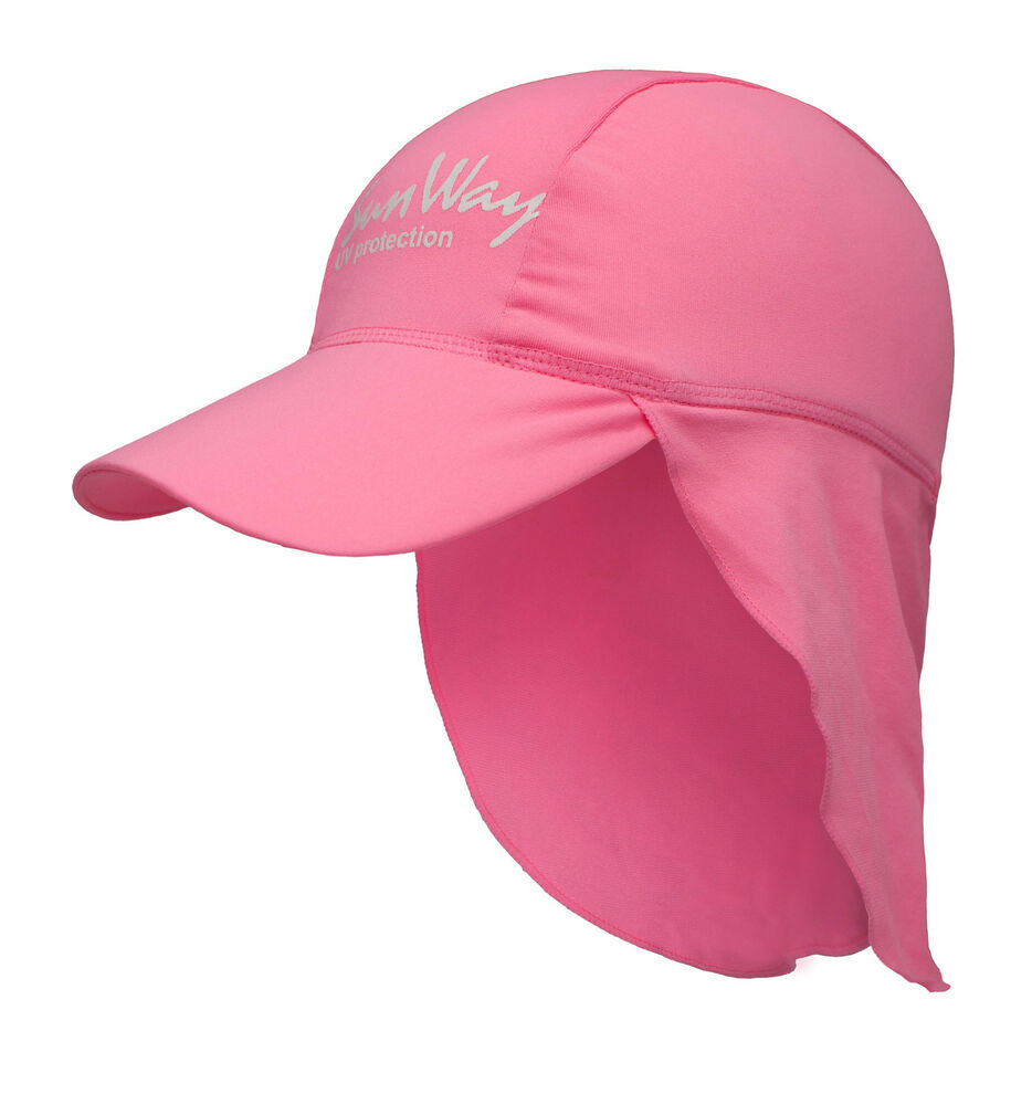 6b80f87fd29e3 Details about Baby Kids Girls UV Sun Protection Legionnaire pink Hat Cap  50UPF