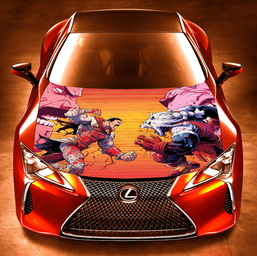 Details about vinyl car hood wrap full color top graphics decal thragg vs beast batle sticker
