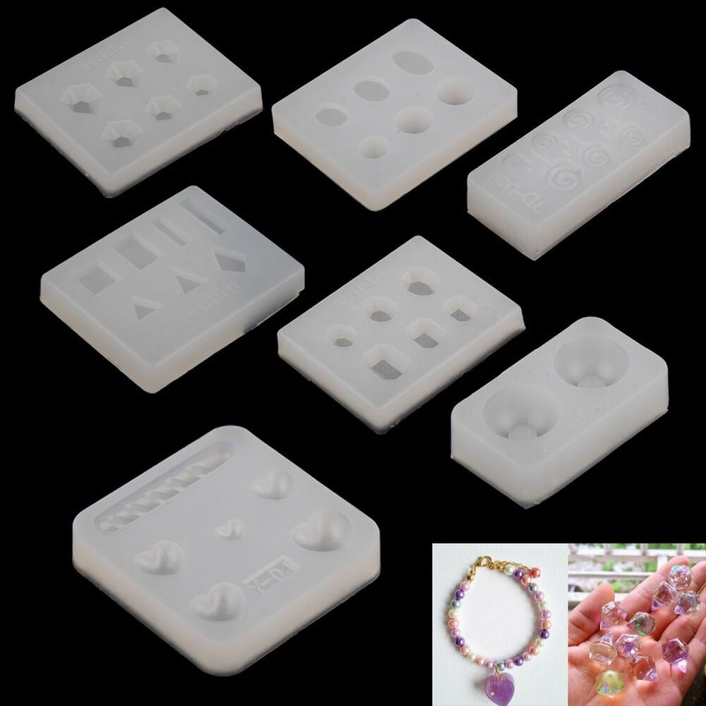 Silicone Faceted Beads Earring Mold Jewellery Making Mould