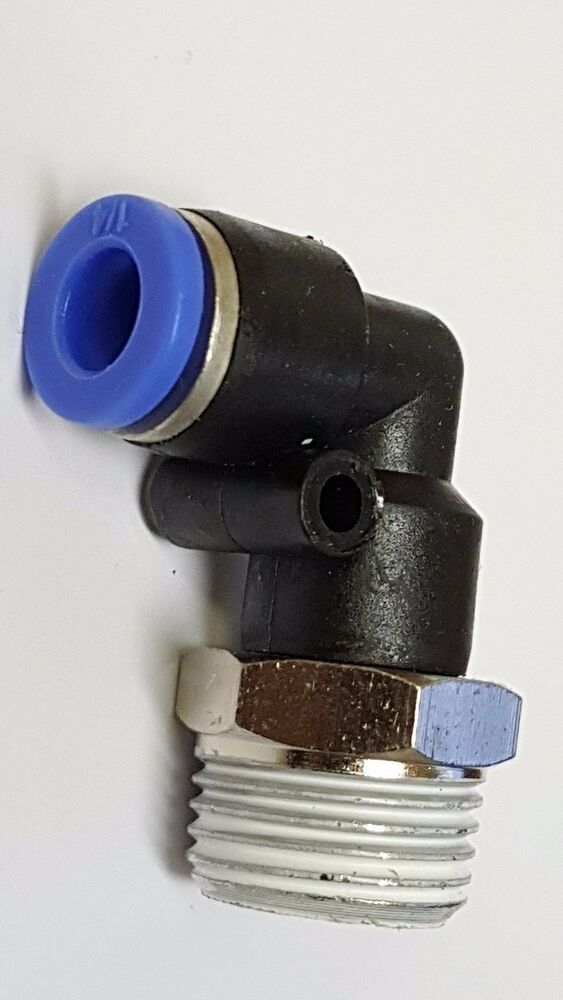Elbow fitting quot npt male to hose push in connect