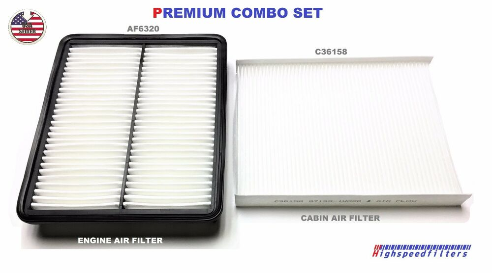 combo set air filter cabin air filter for 2014 2015 kia. Black Bedroom Furniture Sets. Home Design Ideas