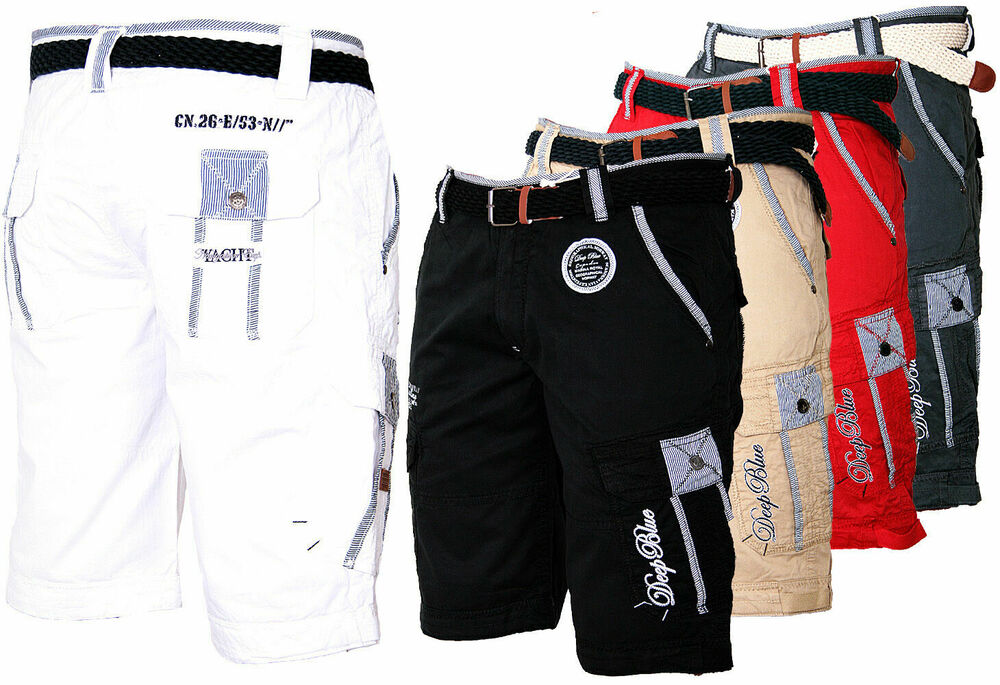 geographical norway herren cargo shorts kurze hose short bermuda g rtel knielang ebay. Black Bedroom Furniture Sets. Home Design Ideas