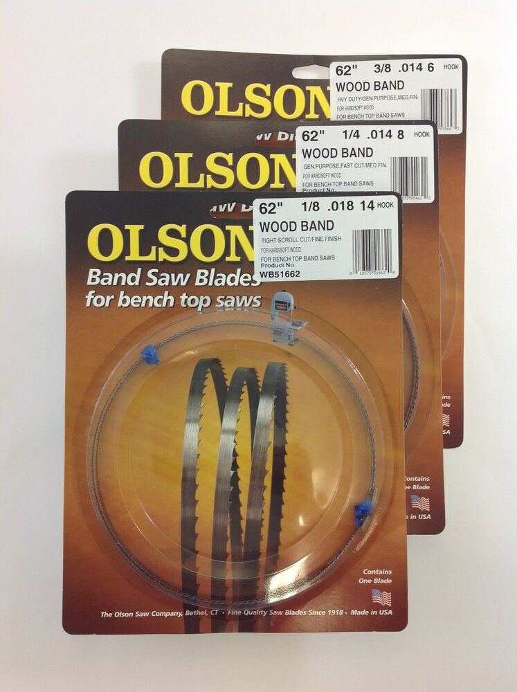 Olson Band Saw Blades 62 Quot X 1 8 Quot Amp 1 4 Quot Amp 3 8 Quot For