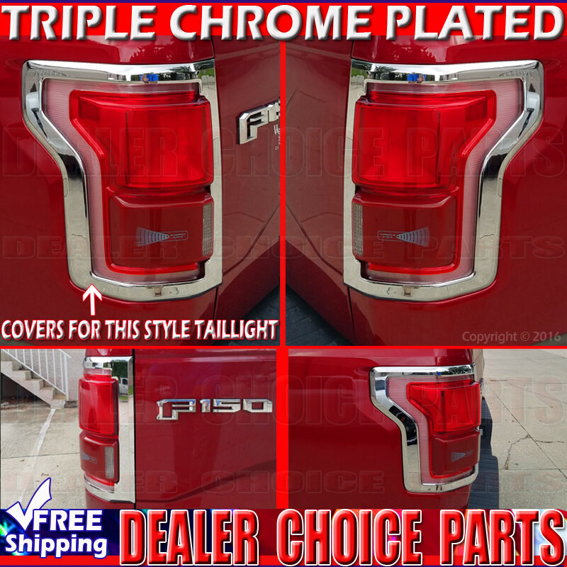 2015 2016 2017 Ford F 150 Chrome Tail Light Bezel Covers