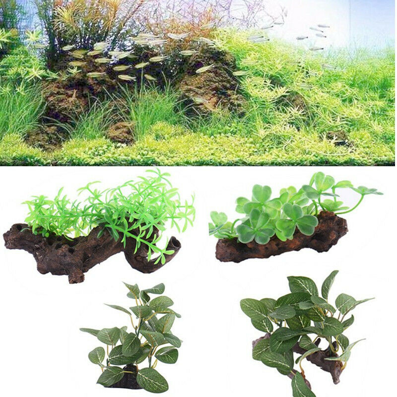 Fake resin tree drift wood trunk aquarium bole ornament for Aquarium wood decoration