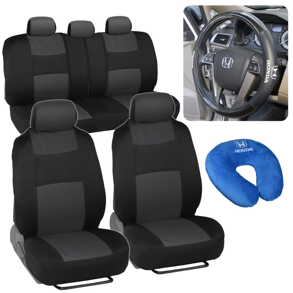 Honda Pilot Car Covers >> Car Seat Covers Steering Wheel Cover Neck Pillow for Honda Pilot 2003-2016 | eBay