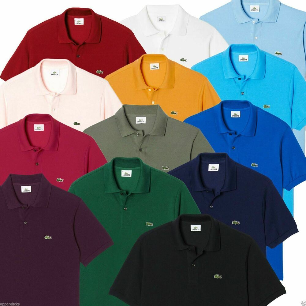 Lacoste men 39 s l1212 polo shirt cotton classic fit all colours size 3 4 5 6 7 ebay - Lacoste poloshirt weiay ...