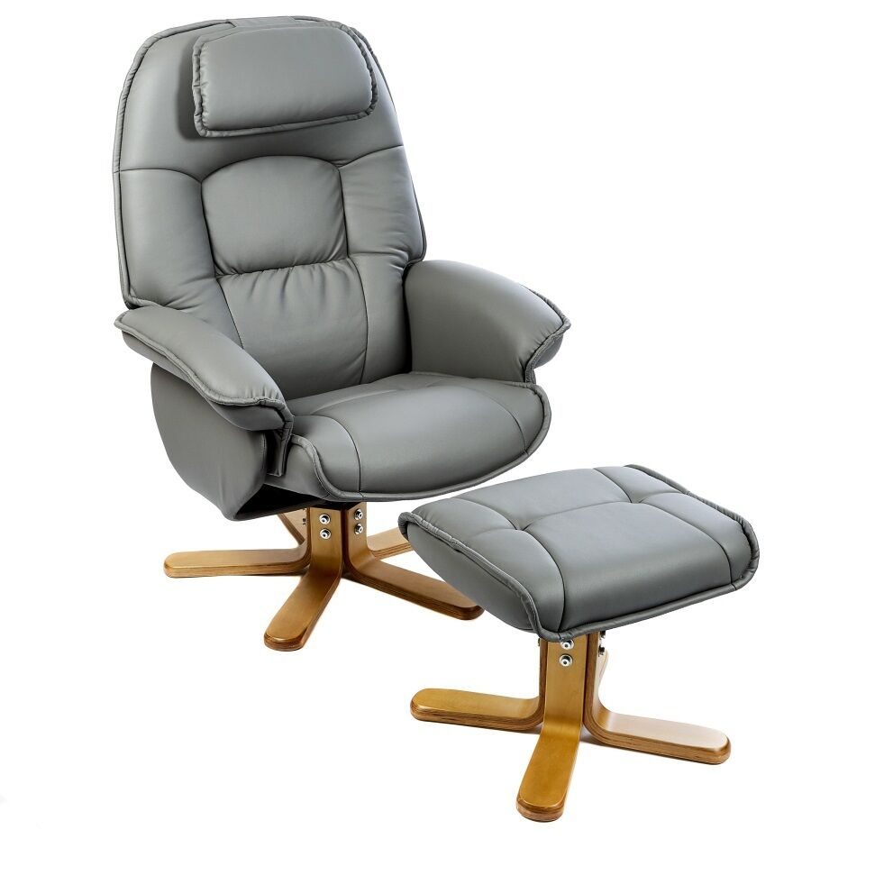 The Avanti Swivel Recliner Chair And Footstool In Oxford