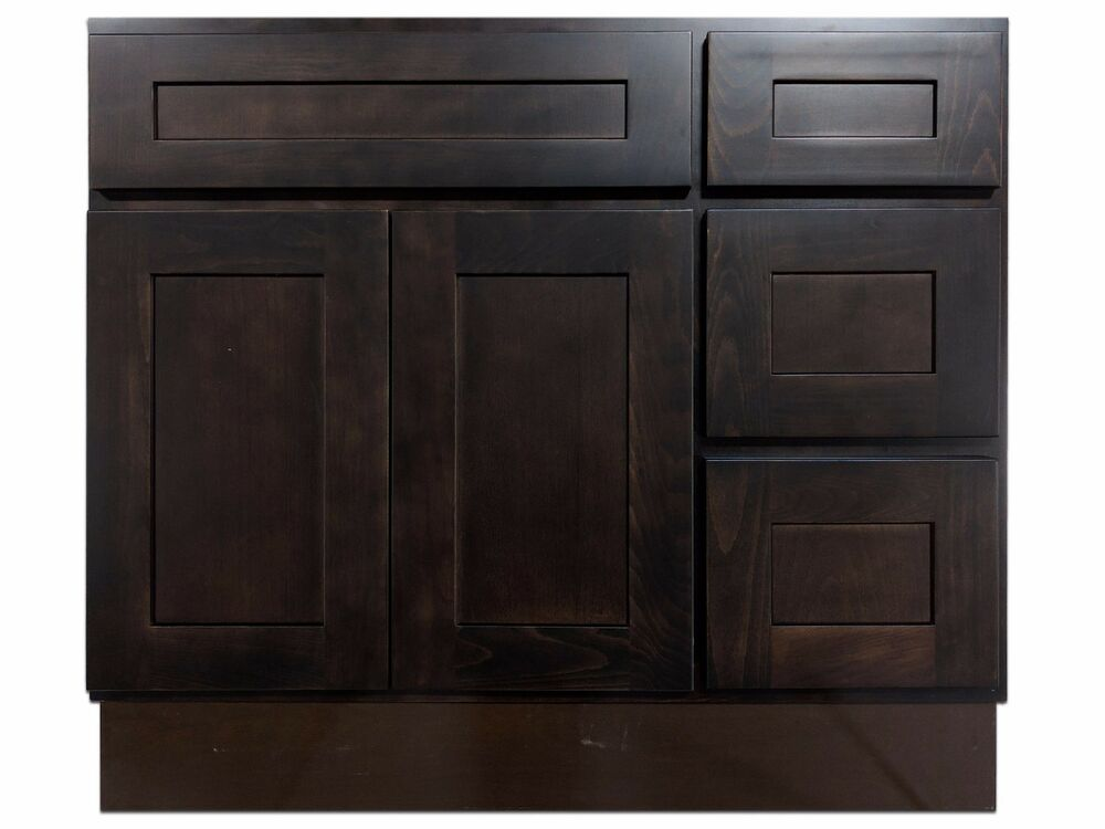 36 inch vanity cabinet with right drawers expresso birch ebay for 36 bathroom vanity left hand drawers