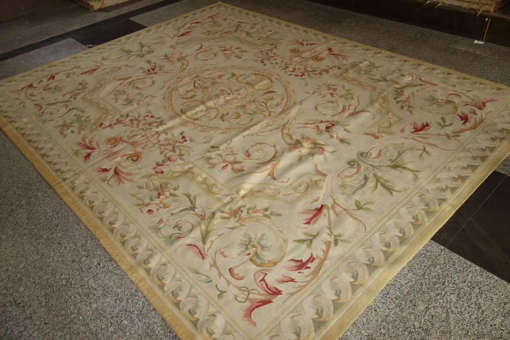 Fpastel Antique Light Color Aubusson Area Rug French