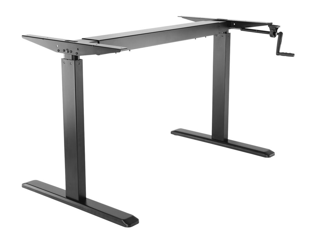 Ergonomic Crank Sit Stand Height Adjustable Table Work