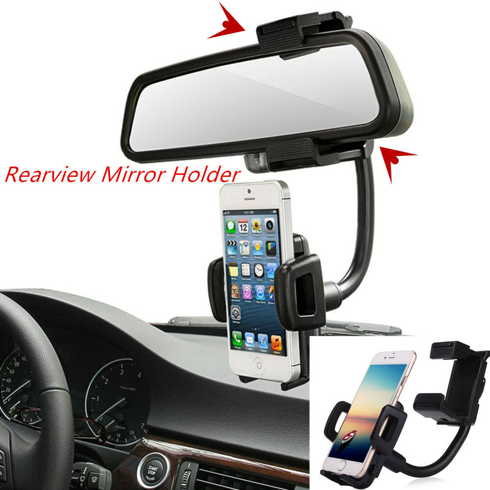 Car Rearview Mirror Mount Holder Stand Cradle For Cell