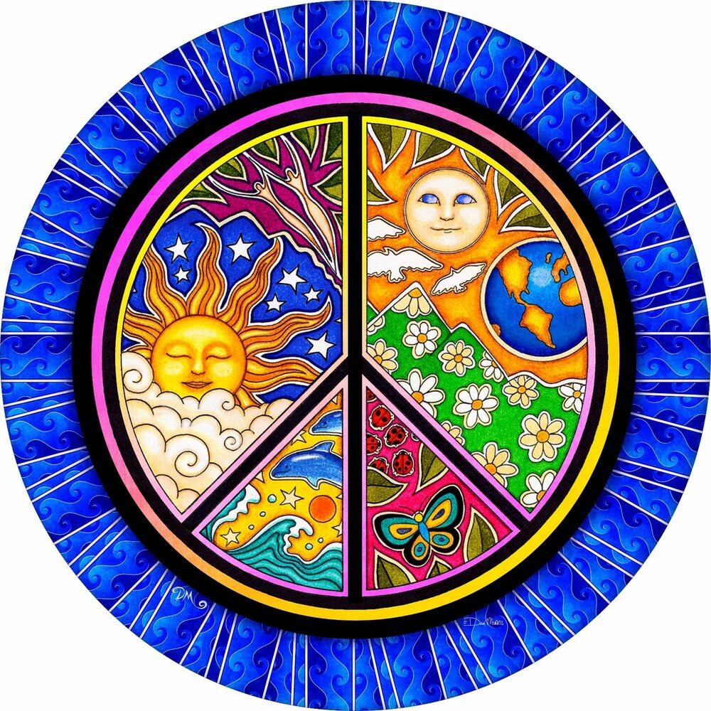 List Of Tire Sizes >> Jeep Peace Sign Earth Sun Moon Dolphin Spare Tire Cover(all sizes available) | eBay