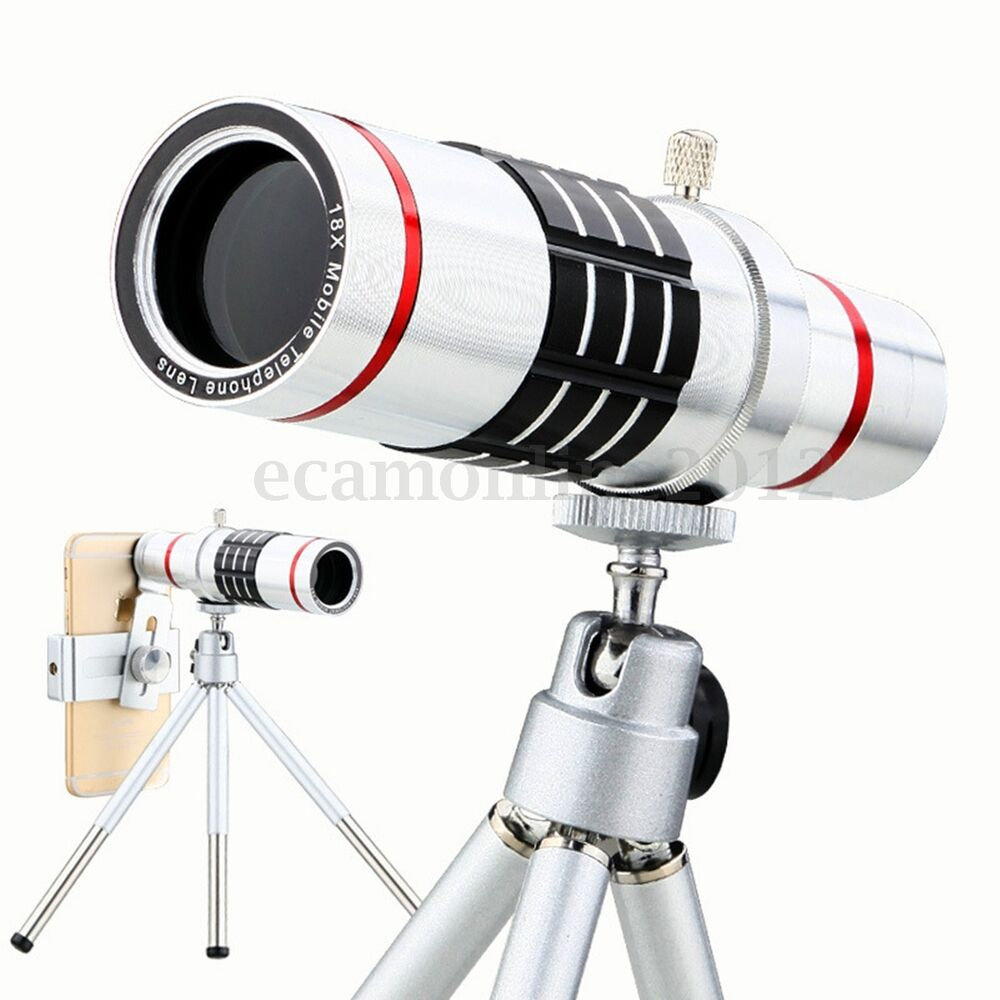 iphone camera lens 18x zoom telescope telephoto lens w tripod for 11688