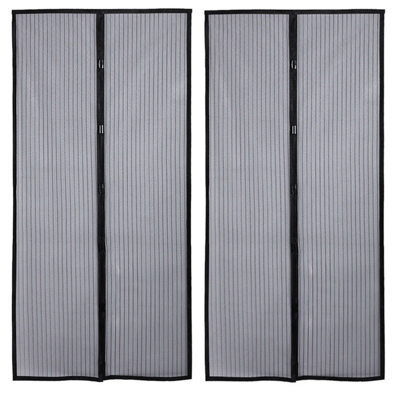 2 Magnetic Screen Door Anti Mosquito Magic Mesh Hands Free
