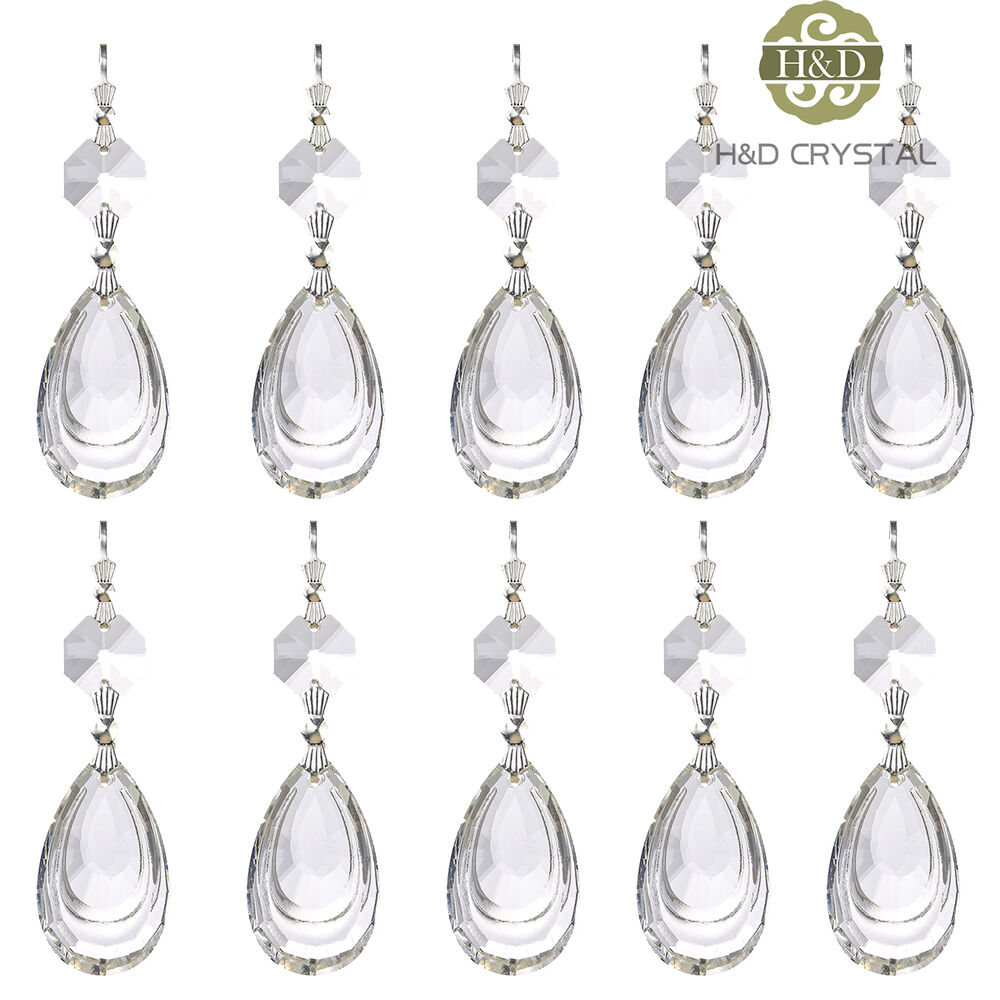 Crystal Chandelier Accessories: Clear Chandelier Glass Crystal Lamp Prisms Parts Hanging
