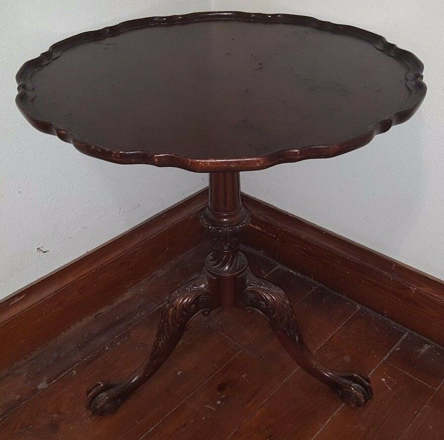 Vintage Maybe Antique Imperial 28 Quot Mahogany Pie Crust