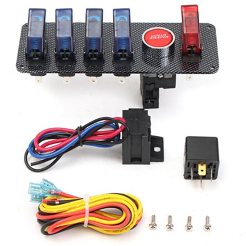 Push To Start Button Ignition: 12V Racing Car Boat Engine Start Push Button 6 In 1 Toggle
