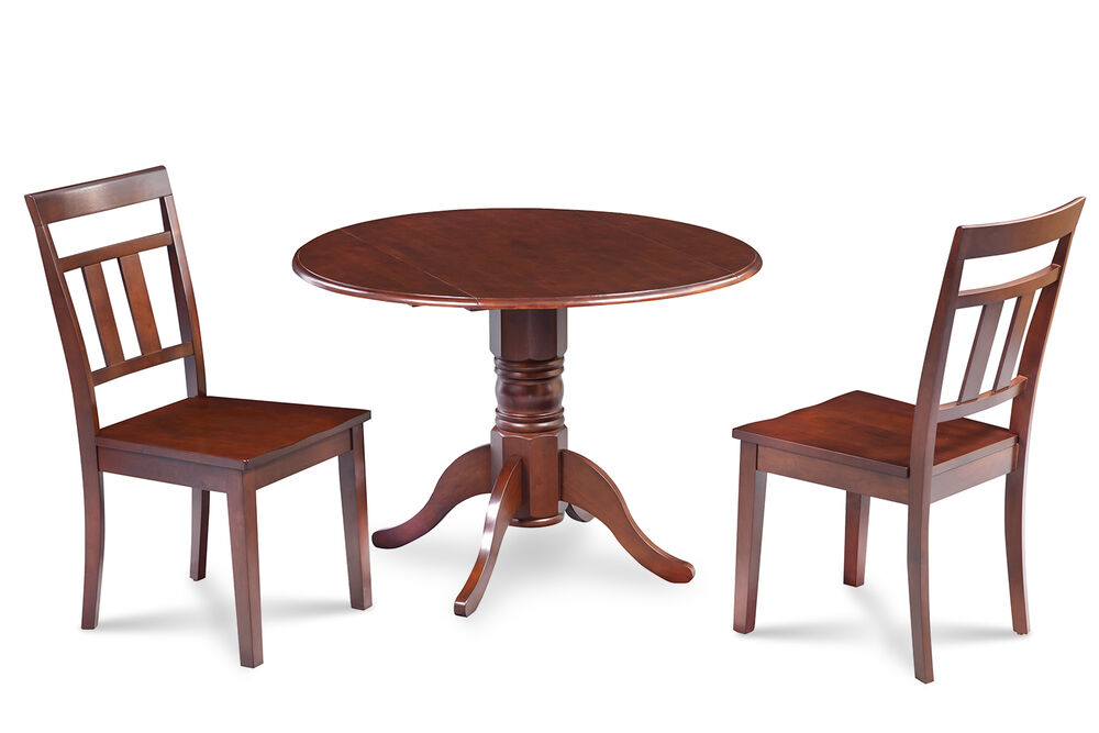 Details About M D Furniture 42 Round Table Dinette Kitchen Dining Room Set With 9 Leaf
