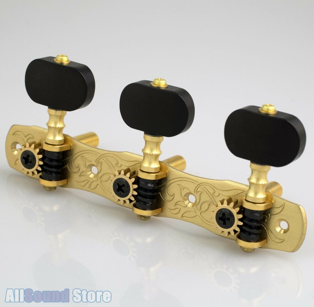 gotoh 35p1800 en classical guitar tuners machines solid brass w ebony buttons ebay. Black Bedroom Furniture Sets. Home Design Ideas