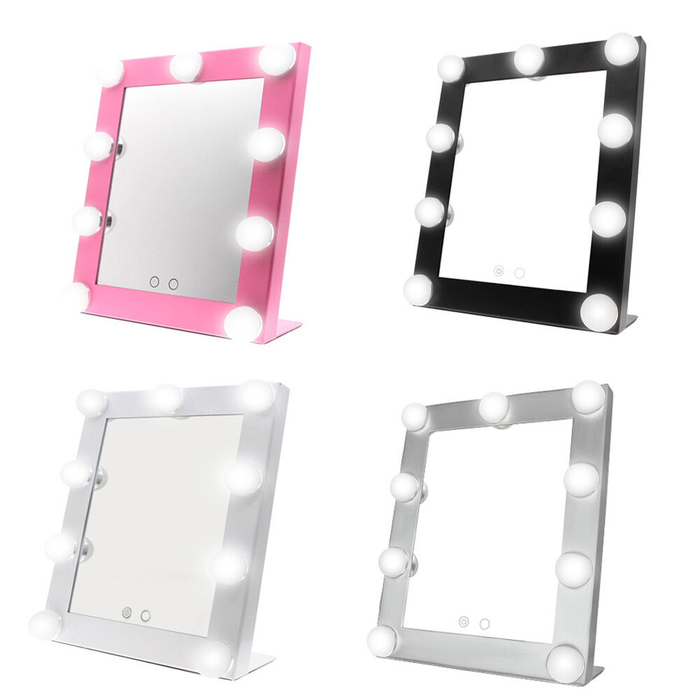 LED Vanity Lighted Hollywood Makeup Mirror with Lights Dimmer Stage Fashion USA eBay
