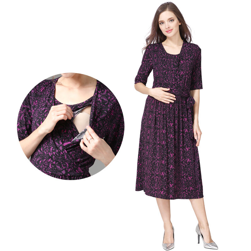 aa008779e5814 Details about Maternity Dresses Breastfeeding Pregnancy Clothes Nursing  Dress Spring Autumn