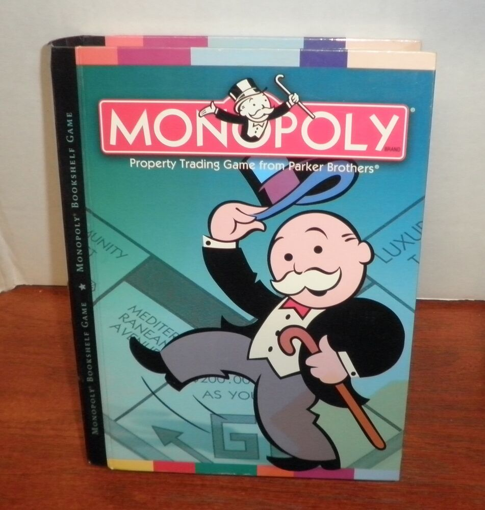 Monopoly Bookshelf Game By Parker Brothers