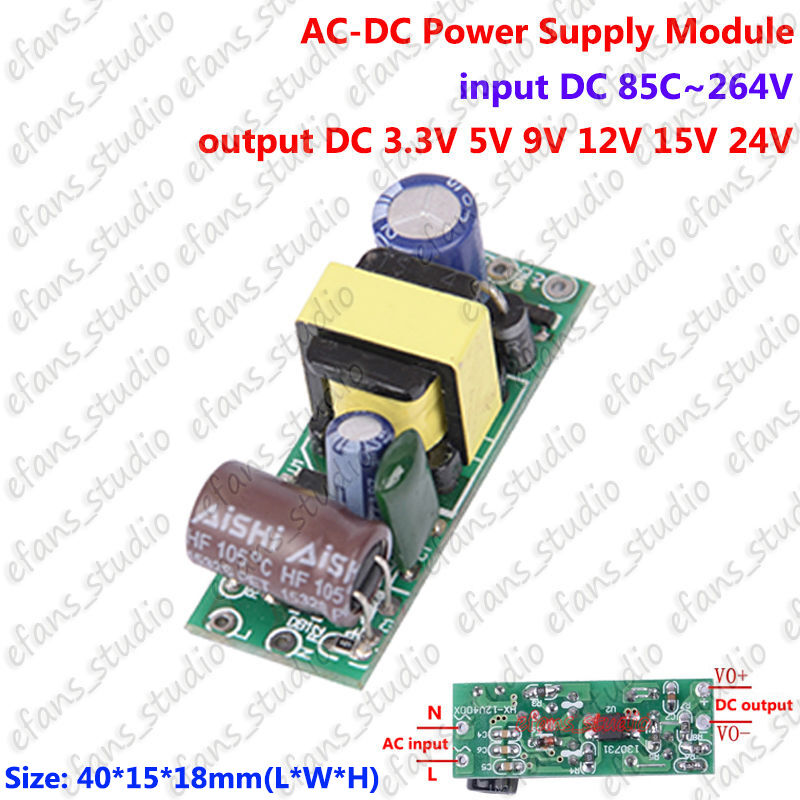 Ac110v 220v 230v to dc 3 3v 5v 9v 12v 15v 24v ac dc for How to convert a dc motor to ac