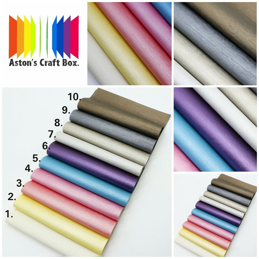 Details About 20 X 22cm Pearl Striped Pu Faux Leather Fabric Sheet Craft Hair Bows Uk Er