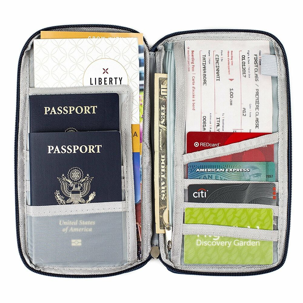 document organizer case travel wallet family passport With family travel document holder
