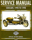 1990 TO 1998 HARLEY-DAVIDSON SIDECAR SERVICE MANUAL -TLE-RLE-TLR-SIDECARS