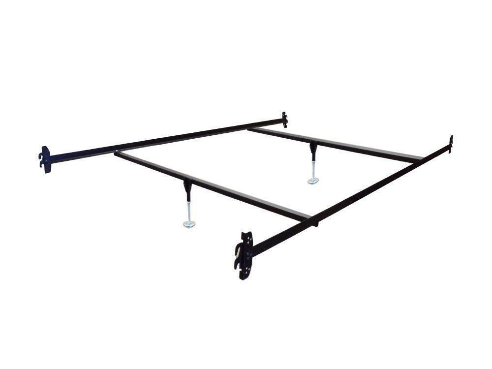 Queen Size Hook on Bed Frame Rails with 2 Cross Beams with Leg ...