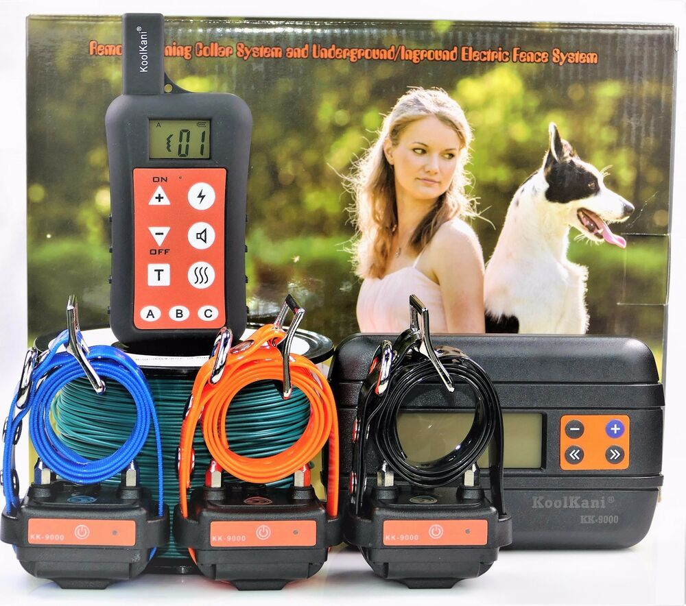 Remote 3 Dog Training Collar In Ground Electric