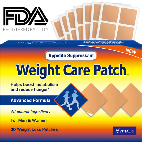 Weight Care Patch Appetite Suppressant Garcinia Cambogia 30 Weight Loss Patches