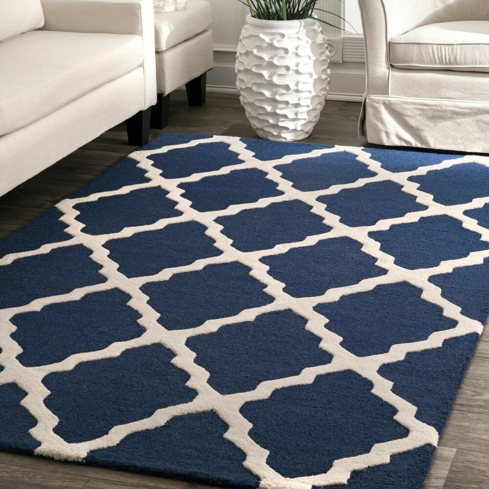 NuLOOM Hand Made Moroccan Trellis Contemporary Modern Wool