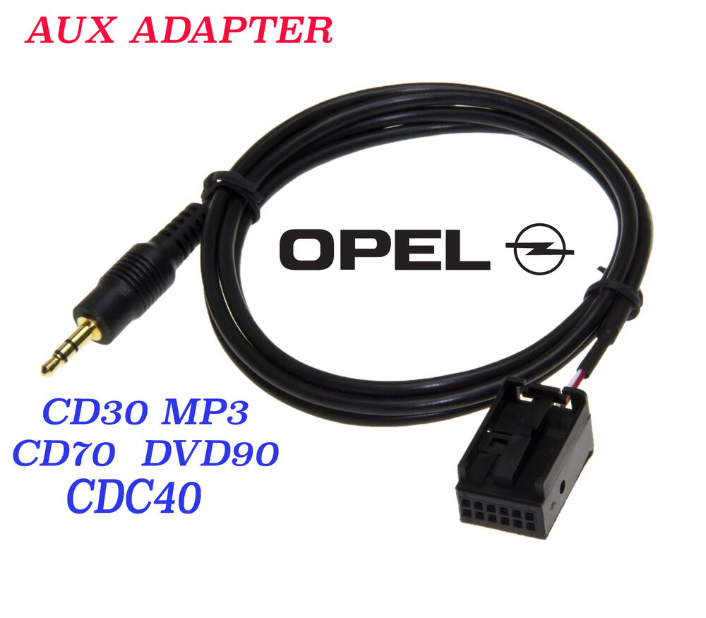 opel aux adapter kabel 3 5mm stecker f r ipod iphone cd30. Black Bedroom Furniture Sets. Home Design Ideas