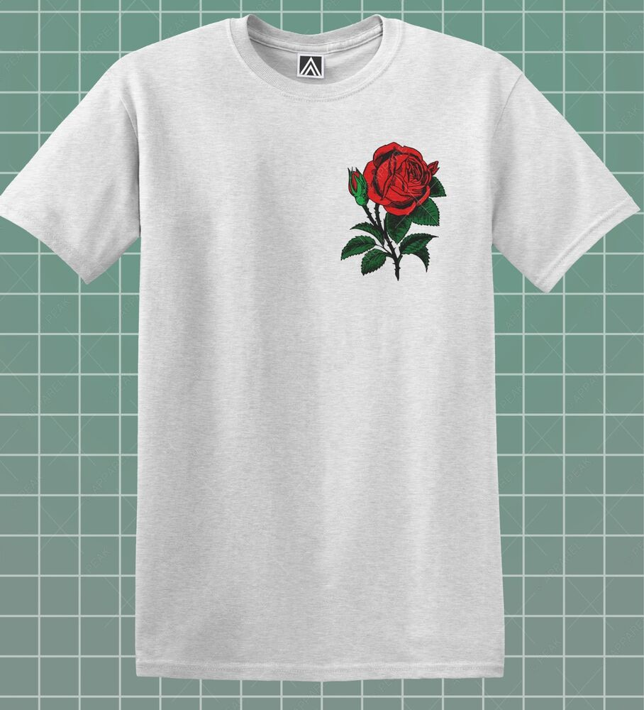 rose t shirt hipster flower indie retro tee floral skater feelings tumblr top ebay. Black Bedroom Furniture Sets. Home Design Ideas