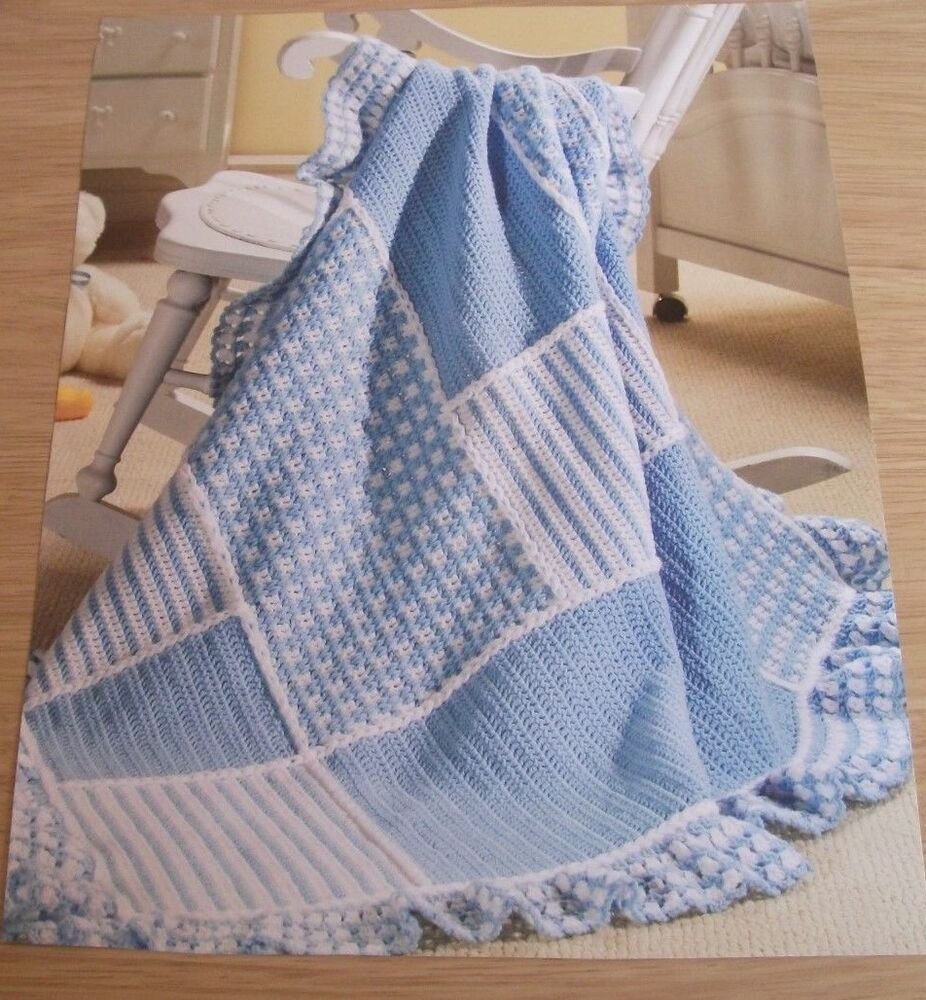 Crochet Pattern to make ~ Patchwork Baby Afghan/Blanket ...