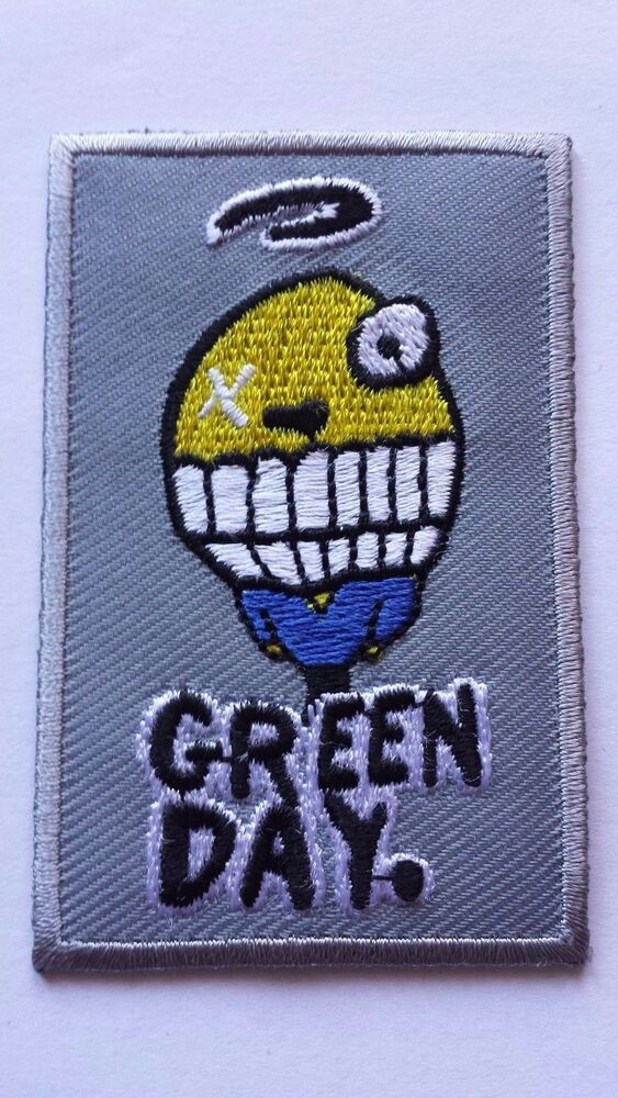 Green day embroidered rock band sew iron on patch uk